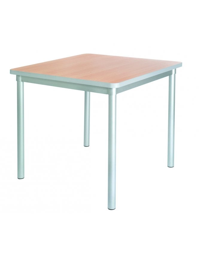 Gopak Enviro Silver Frame Dining Table 750mm Square