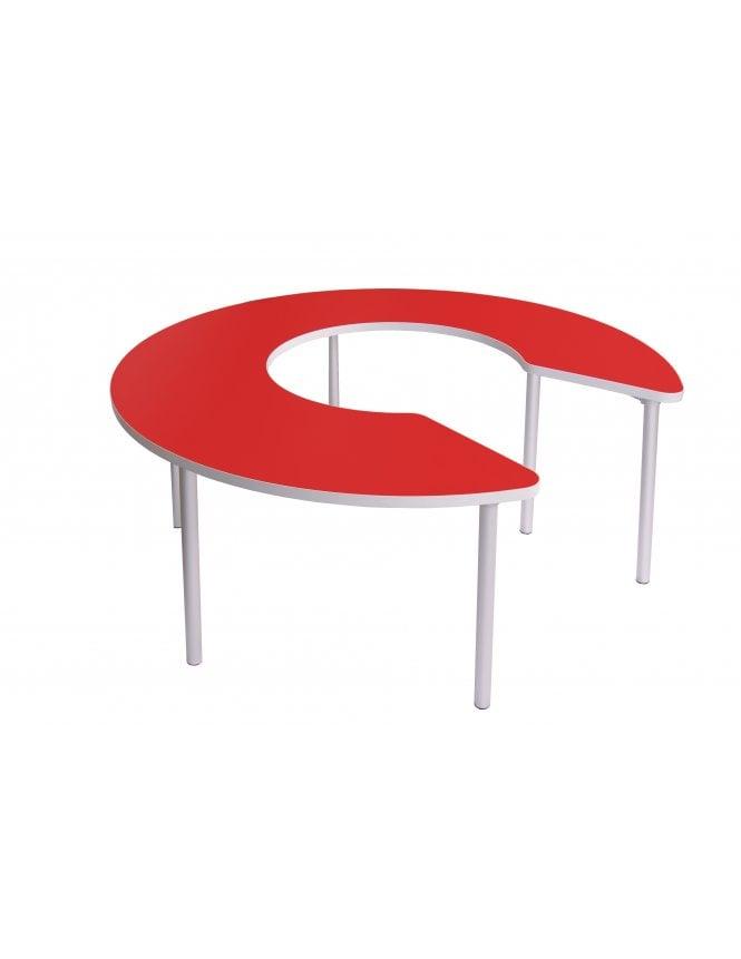 Gopak Enviro Silver Frame Early Years Keyhole Table 1500mm