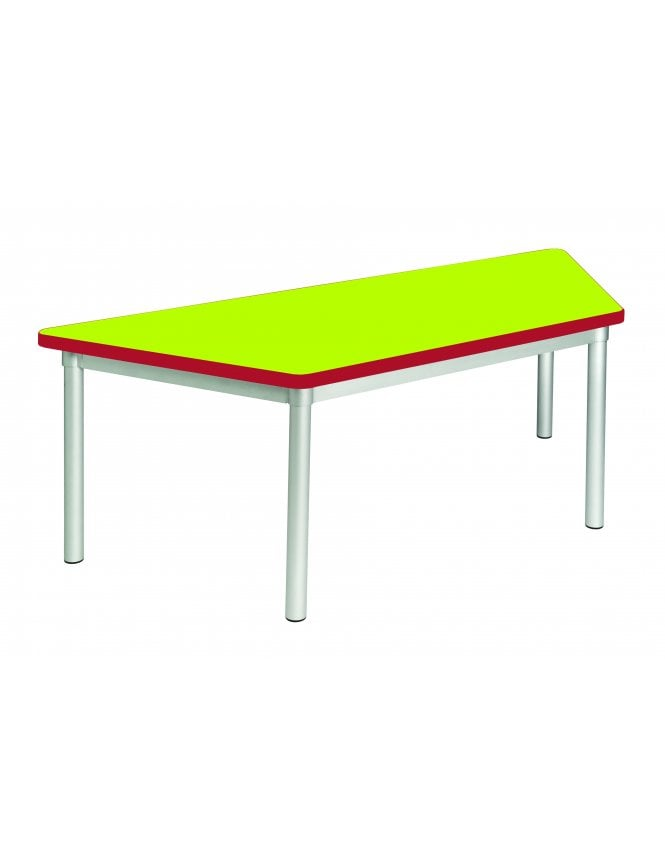 Gopak Enviro Silver Frame Early Years Trapezoidal Table 1400 x 590mm