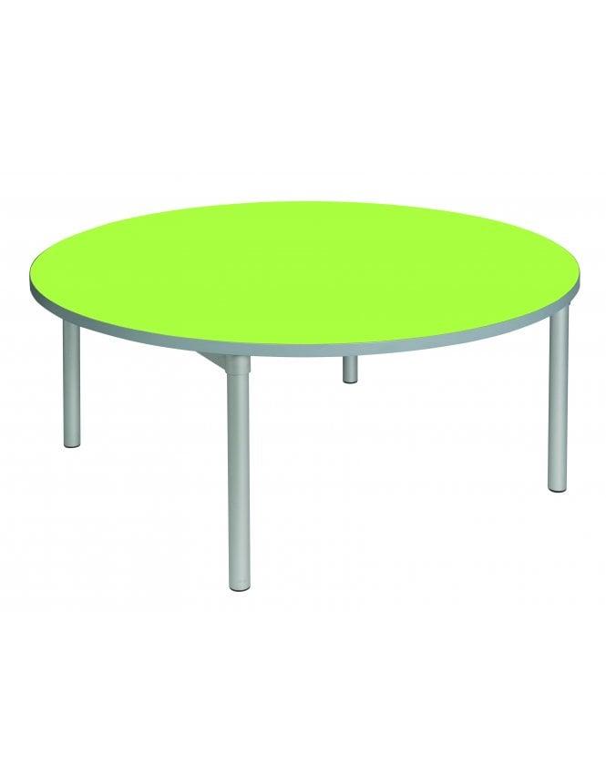 Gopak Enviro Silver Frame Round Dining Table 1200mm