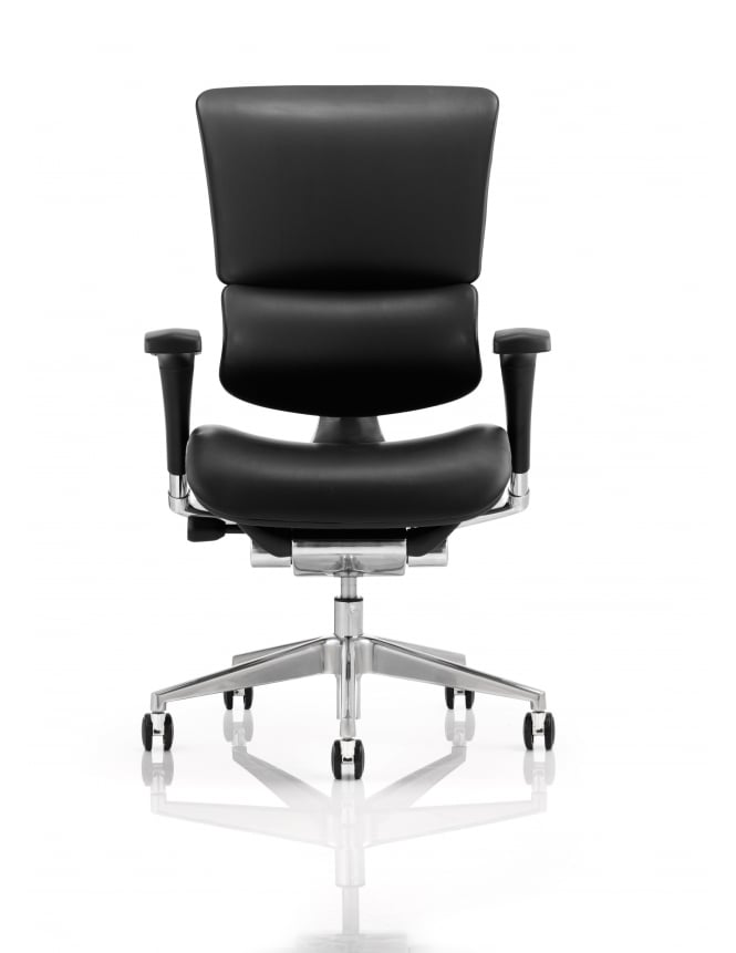 Dynamic Furniture Ergo-Dynamic Bonded Leather Black Frame Chair