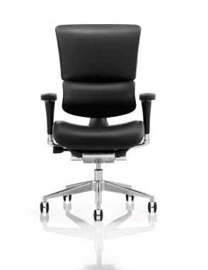 Ergo-Dynamic Bonded Leather Black Frame Chair