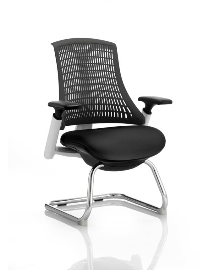 Dynamic Furniture Flex Visitor Cantilever Fabric Chair