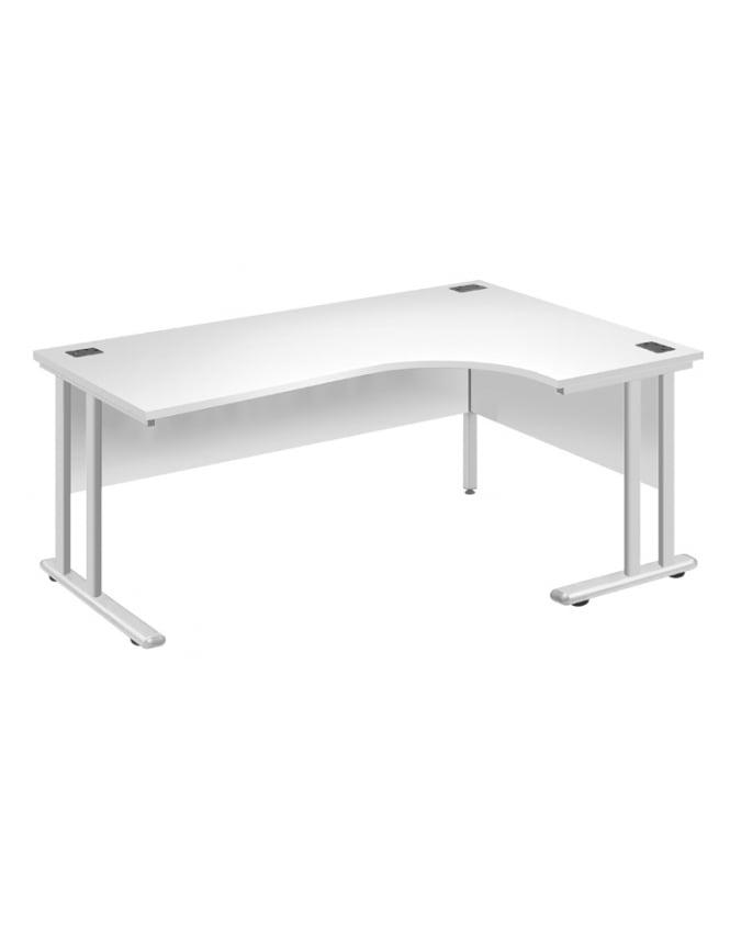 Woodstock Leabank Fraction 2 Right Hand Core Desk White Frame