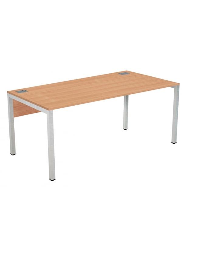 Woodstock Leabank Fraction 3 Rectangular Desk with Silver Frame