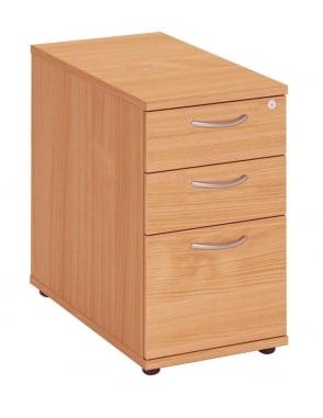 Fraction Plus 3 Drawer Desk High Pedestal
