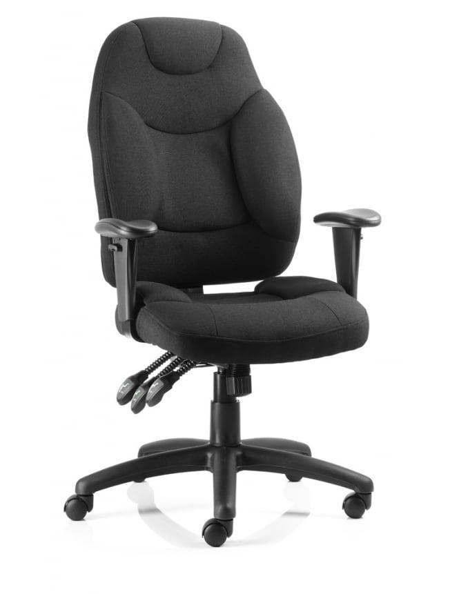 Dynamic Furniture Galaxy Task Operator Black Fabric Chair
