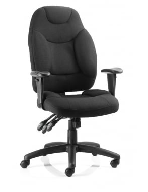 Galaxy Task Operator Black Fabric Chair