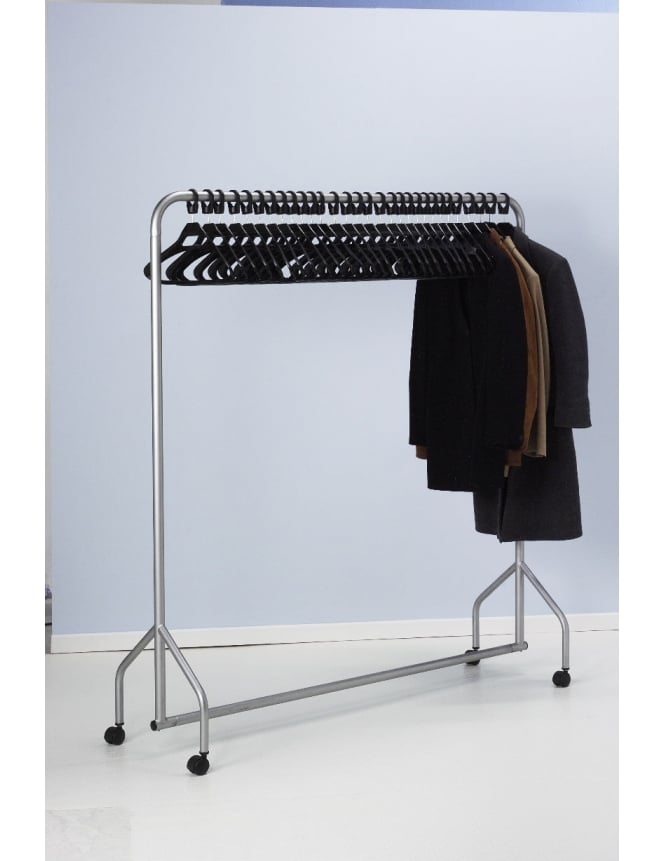 Commercial Hangers Garment Rail with 30 Anti-theft Hangers