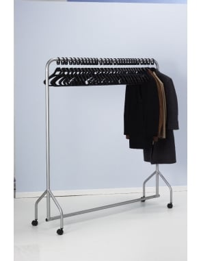 Garment Rail with 30 Anti-theft Hangers