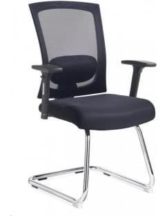Gemini Mesh Visitors Chair with Arms