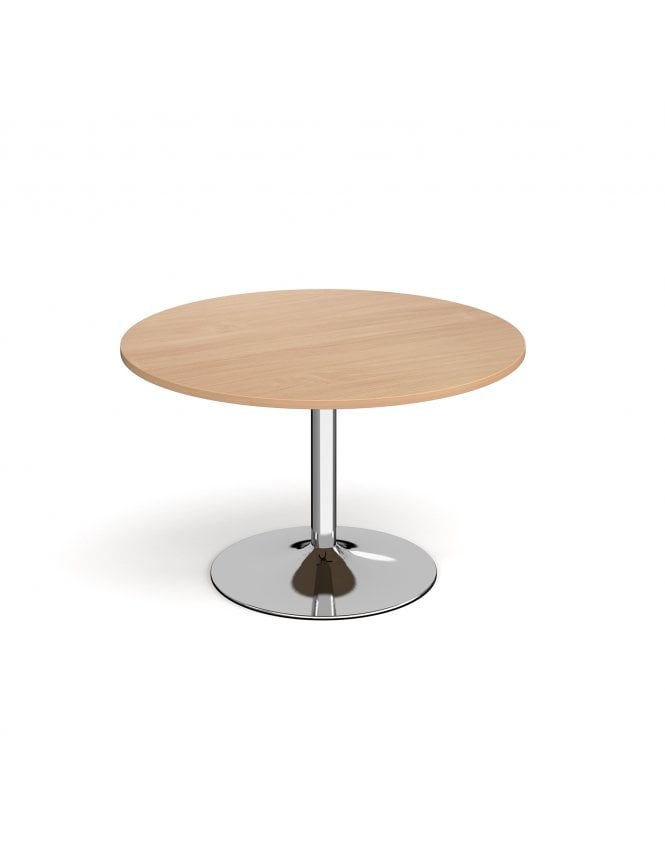 Dams Genoa Circular Dining Table with Trumpet Base