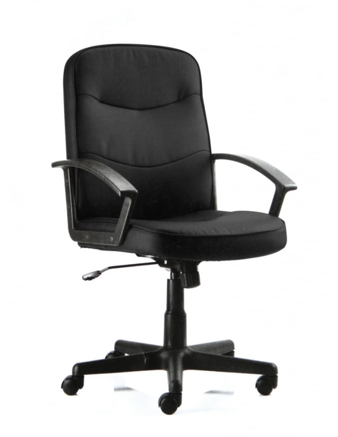 Dynamic Furniture Harley Executive Black Fabric Chair