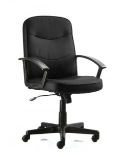 Harley Executive Black Fabric Chair