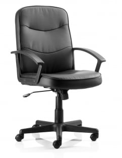 Harley Executive Black Leather Chair