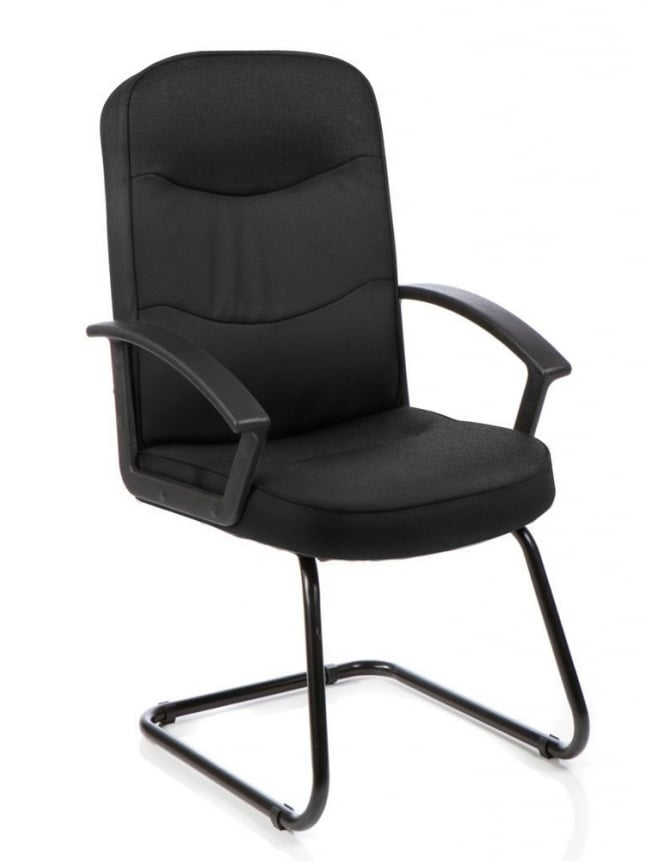 Dynamic Furniture Harley Visitor Cantilever Fabric Chair