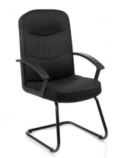 Harley Visitor Cantilever Fabric Chair