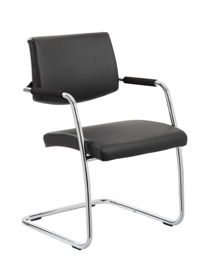 Dynamic Furniture Havanna Visitor Black Leather Chair