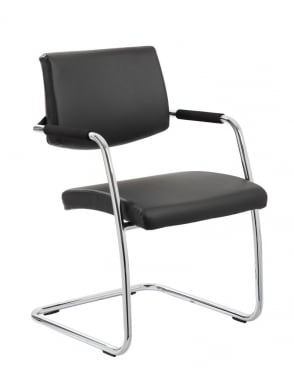 Havanna Visitor Black Leather Chair