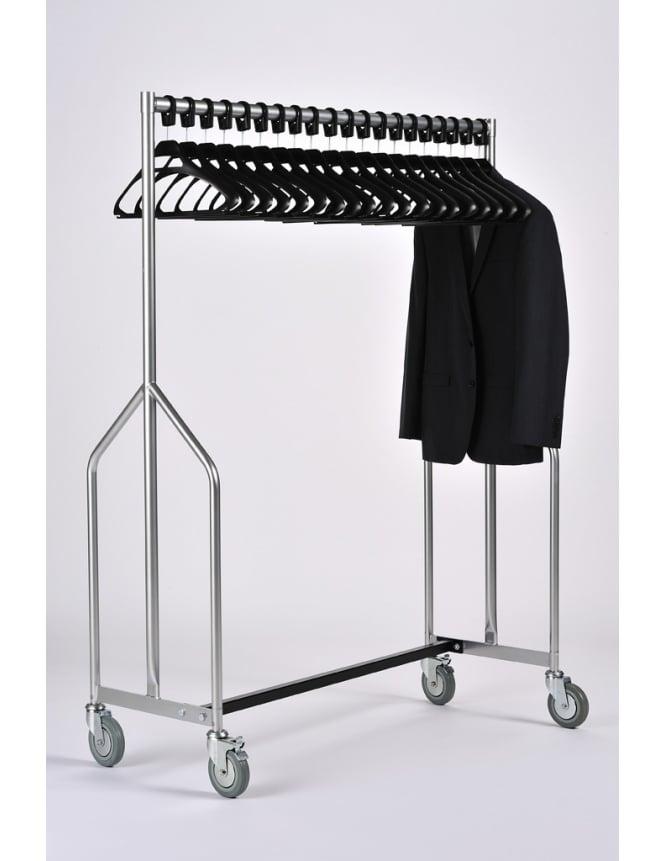Commercial Hangers Heavy Duty Garment Rail + 20 Black SPH Hangers