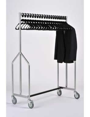 Heavy Duty Garment Rail + 20 Black SPH Hangers