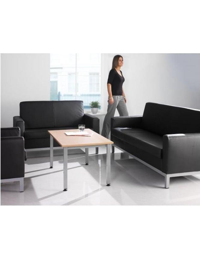 Dams Helsinki Reception Leather Faced 2 Seater Sofa