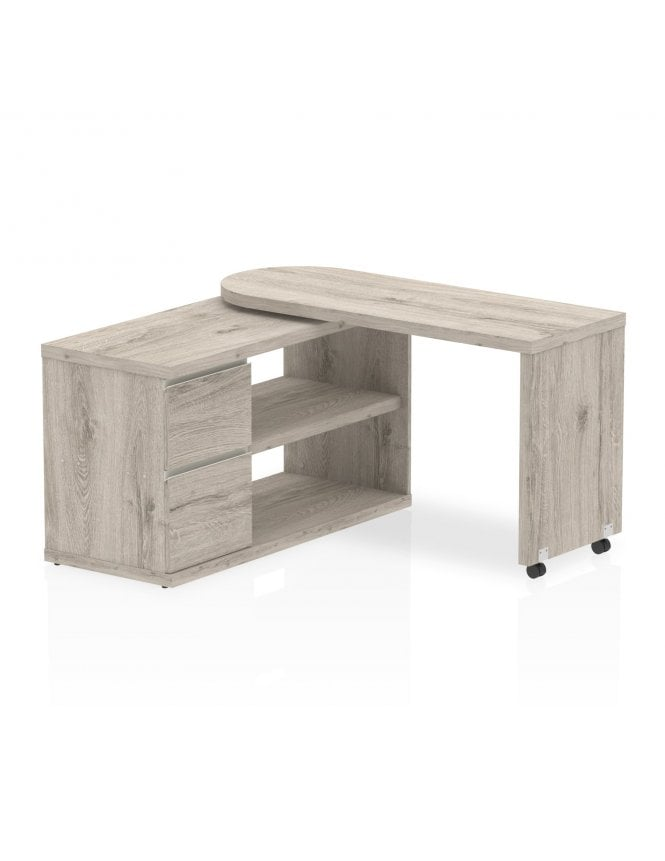 Dynamic Furniture Home Office Fleur Smart Storage Desk Grey