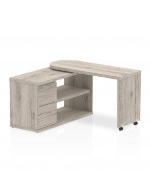Home Office Fleur Smart Storage Desk Grey