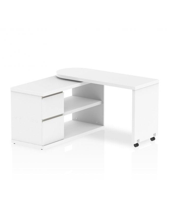 Dynamic Furniture Home Office Fleur Smart Storage Desk White