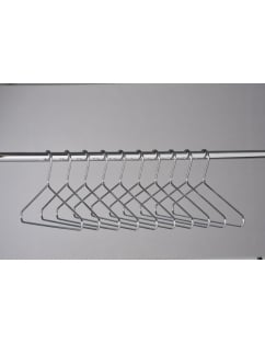 Hooked Chrome Hangers - 100 Pack
