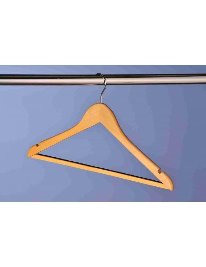 Hooked Wooden Hangers - 100 Pack
