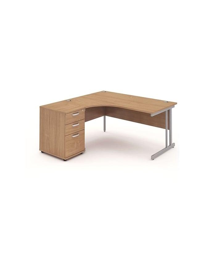 Dynamic Furniture Impulse 1600 Left Hand Cantilever Workstation 600 Pedestal Bundle