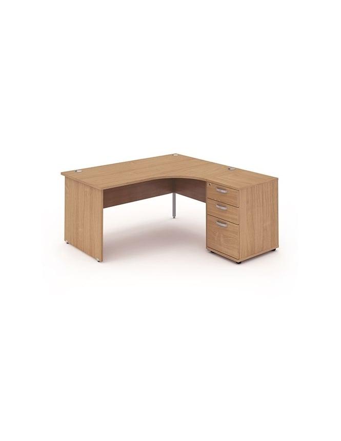 Dynamic Furniture Impulse 1600 Right Hand Panel End Workstation 600 Pedestal Bundle