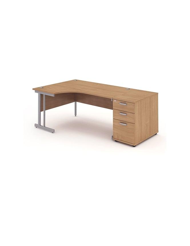 Dynamic Furniture Impulse 1800 Left Hand Cantilever Workstation 800 Pedestal Bundle