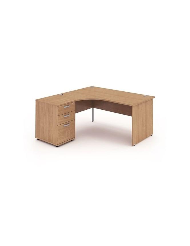 Dynamic Furniture Impulse 1800 Left Hand Panel End Workstation 600 Pedestal Bundle