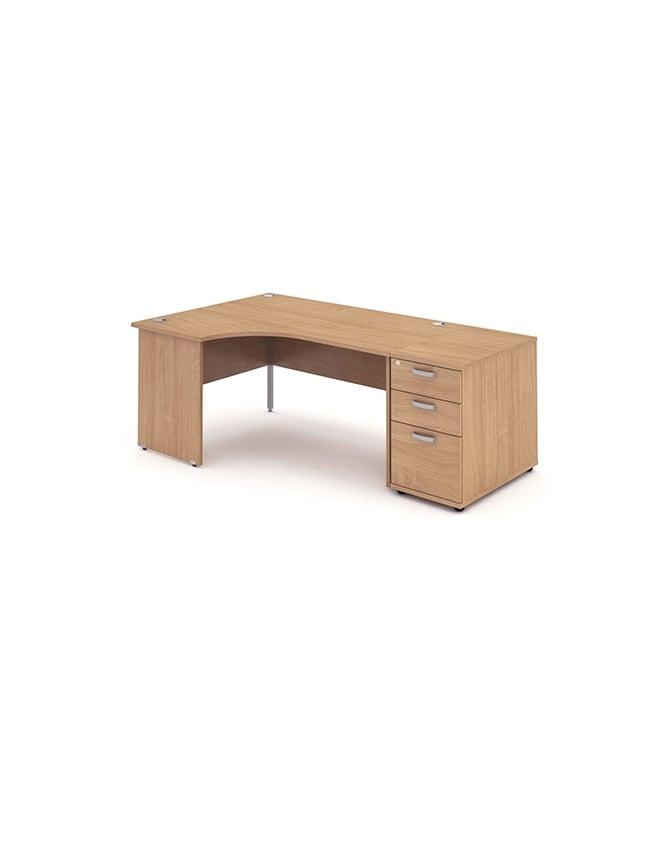 Dynamic Furniture Impulse 1800 Left Hand Panel End Workstation 800 Pedestal Bundle