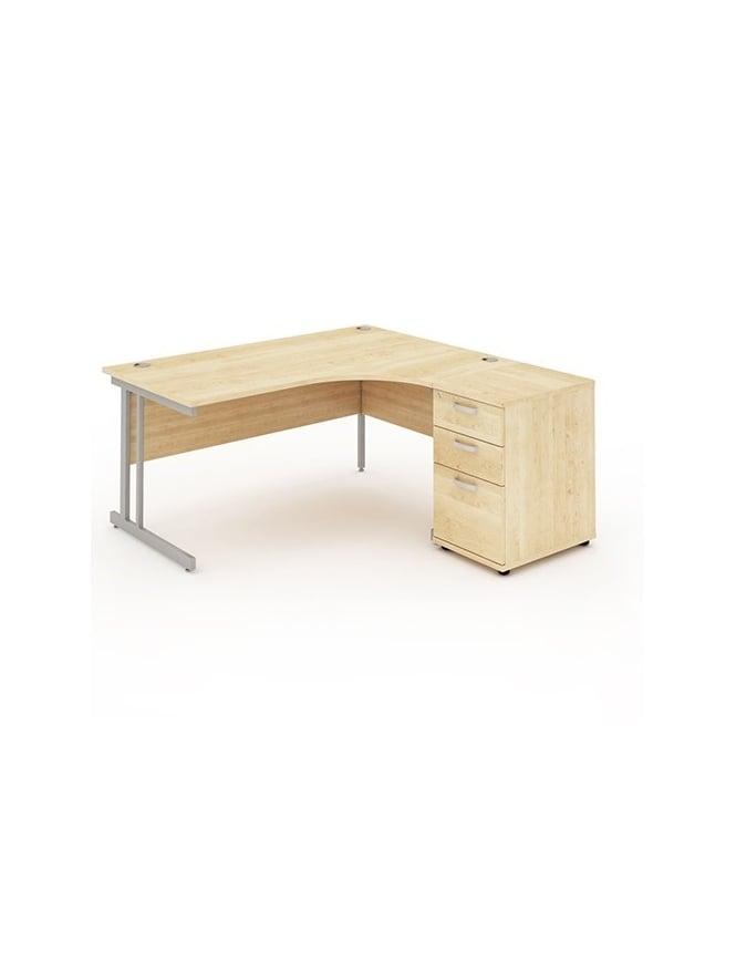 Dynamic Furniture Impulse 1800 Right Hand Cantilever Workstation 600 Pedestal Bundle