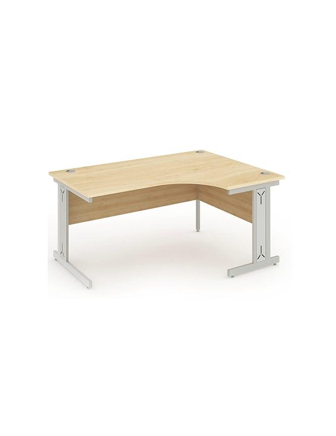 Dynamic Furniture Impulse Cable Managed Left Hand Crescent Desk Maple