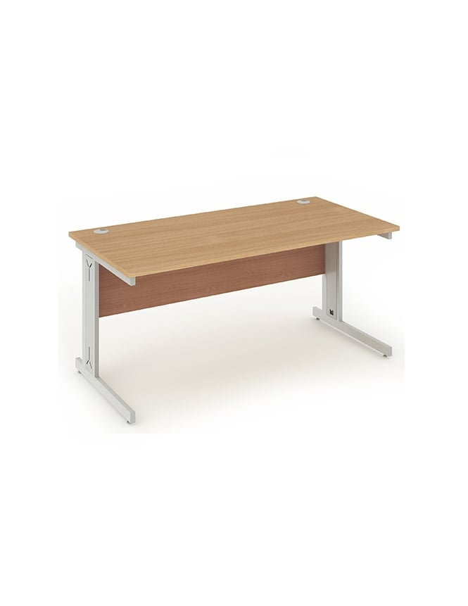 Dynamic Furniture Impulse Cable Managed Rectangle Desk Beech