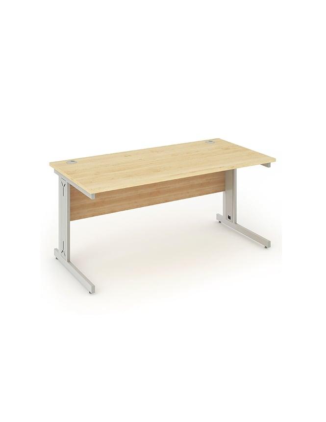 Dynamic Furniture Impulse Cable Managed Rectangle Desk Maple