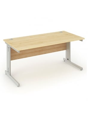 Impulse Cable Managed Rectangle Desk Maple