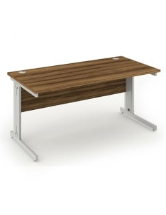 Impulse Cable Managed Rectangle Desk Walnut