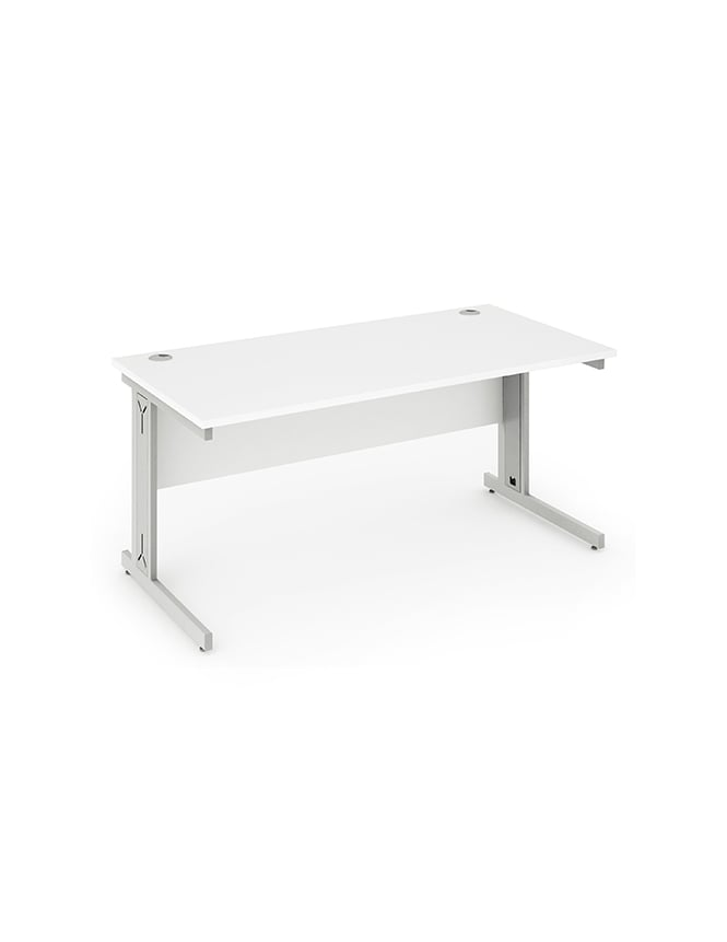 Dynamic Furniture Impulse Cable Managed Rectangle Desk White