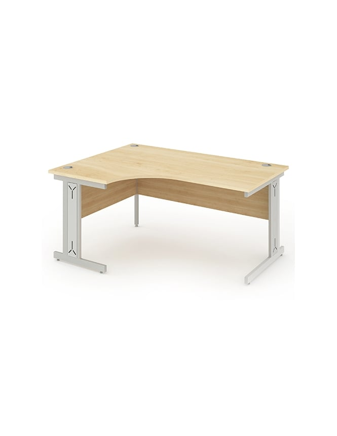 Dynamic Furniture Impulse Cable Managed Right Hand Crescent Desk Maple