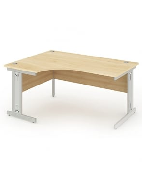 Impulse Cable Managed Right Hand Crescent Desk Maple