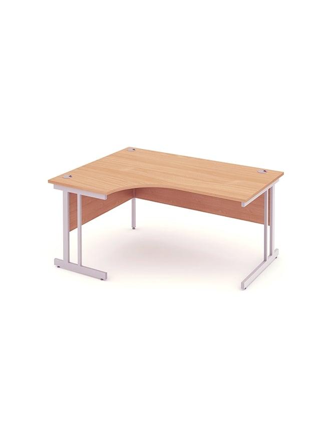 Dynamic Furniture Impulse Cantilever Left Hand Crescent Desk Beech