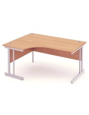 Impulse Cantilever Left Hand Crescent Desk Beech