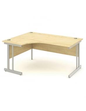 Impulse Cantilever Left Hand Crescent Desk Maple