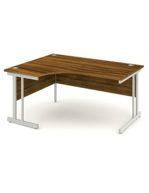 Impulse Cantilever Left Hand Crescent Desk Walnut