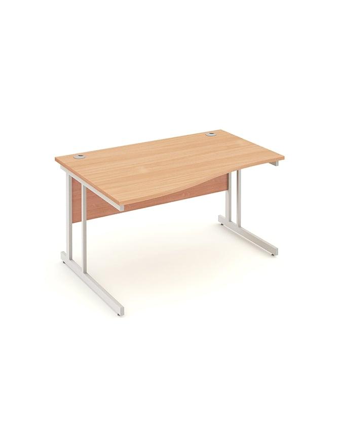Dynamic Furniture Impulse Cantilever Left Hand Wave Desk Beech